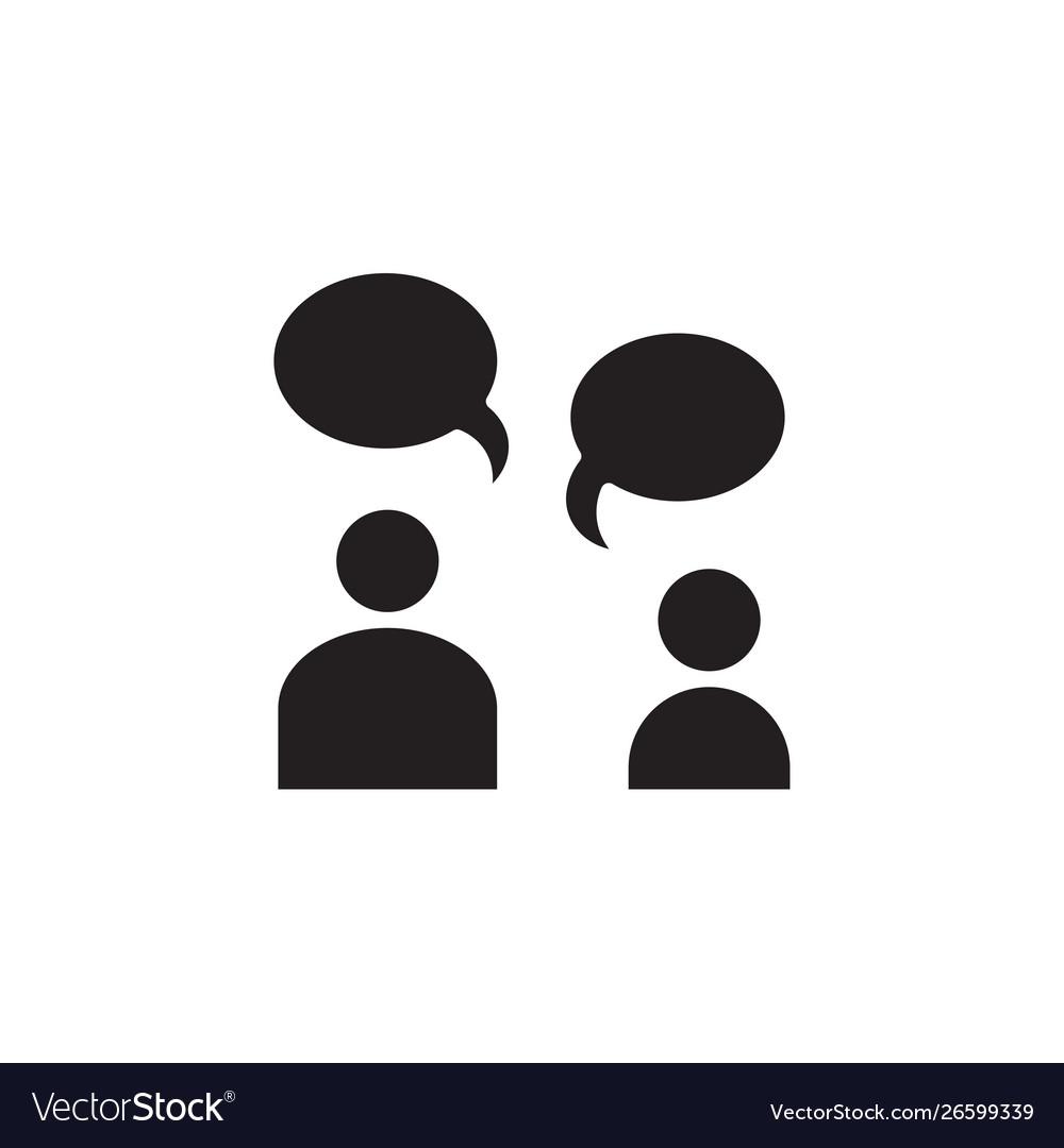 Flat conversation people talk bubble chat speech