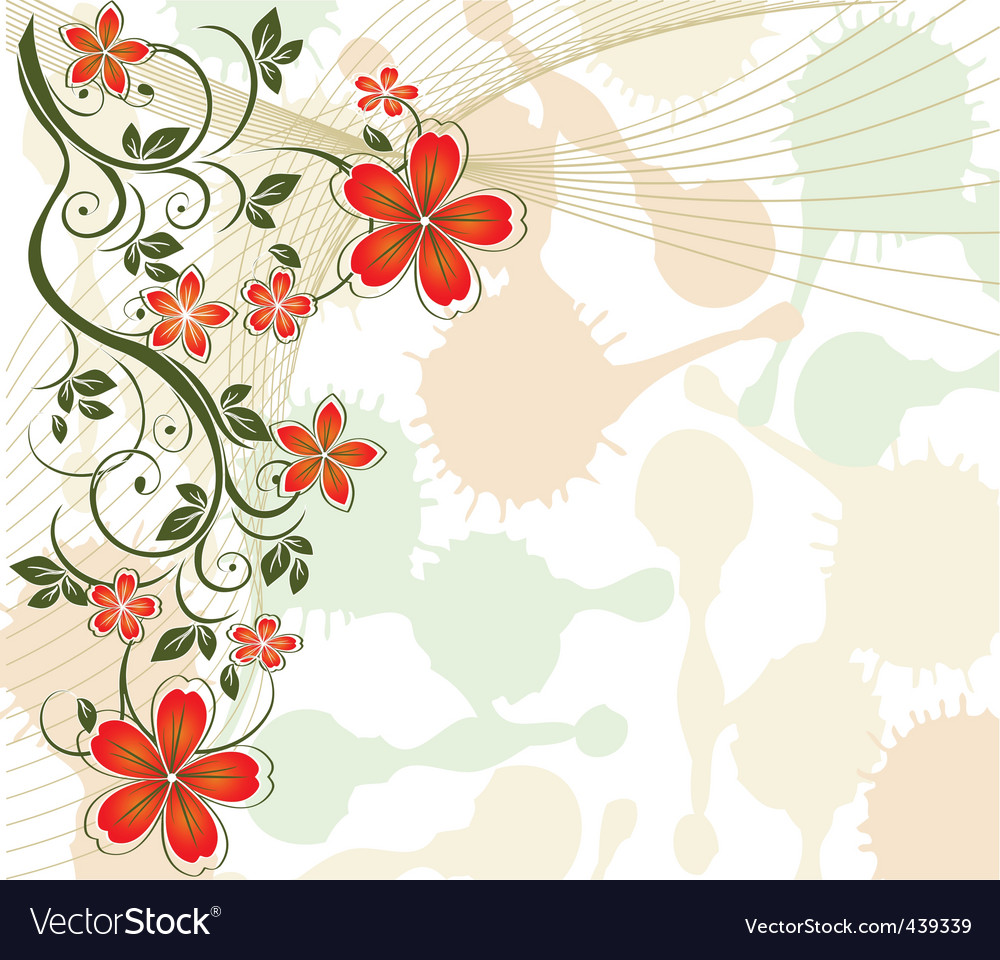 Floral vine background