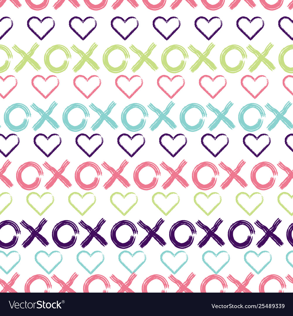 Hugs and kisses seamless pattern background