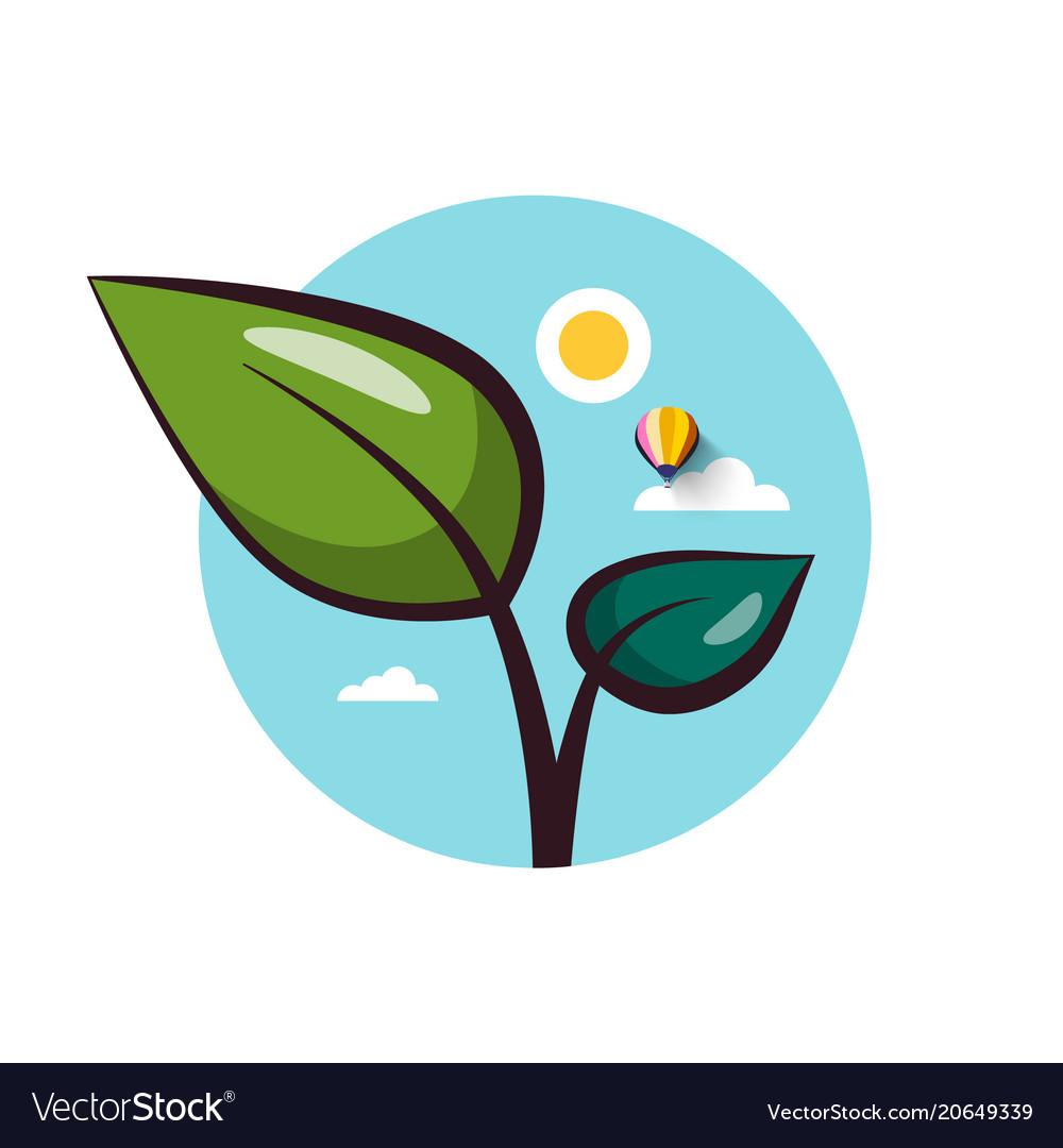 Plant flat design icon