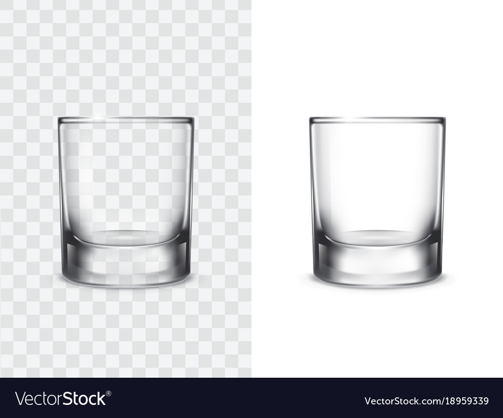 Realistic drinking glasses vector image