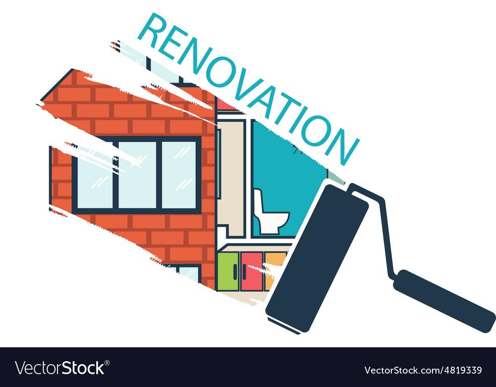 Renovation House remodelingflat design