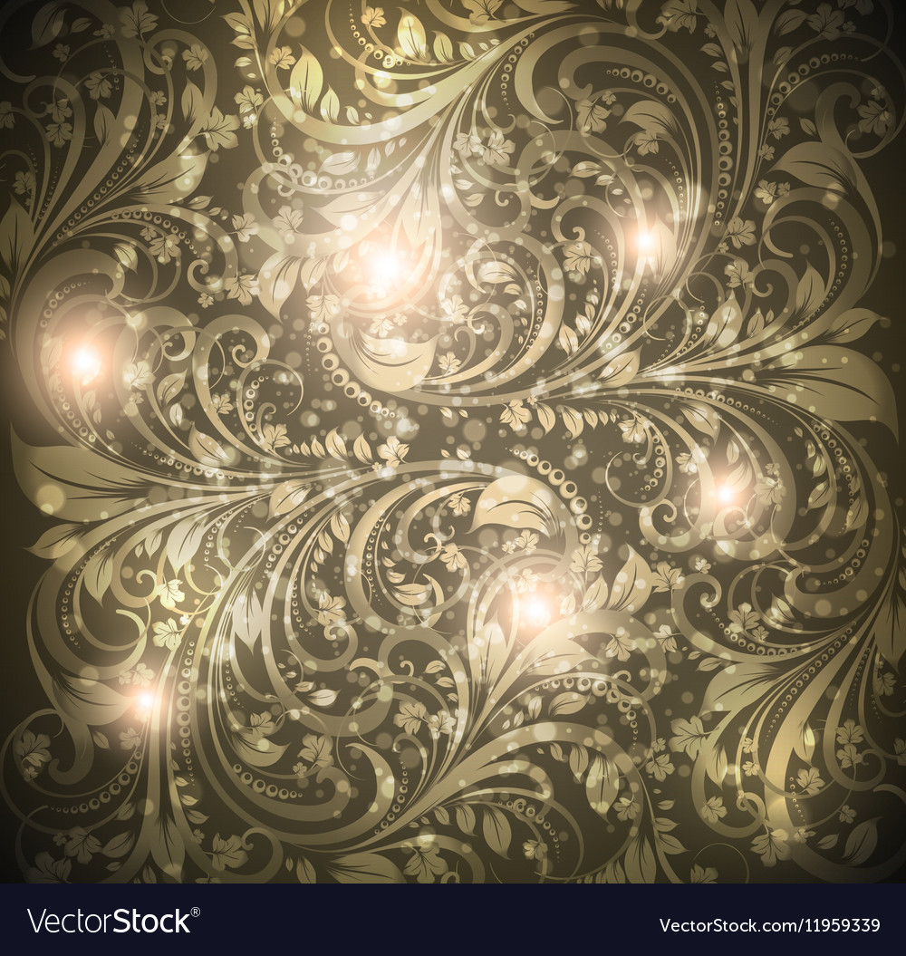 Seamless Dark Floral Wallpaper Royalty Free Vector Image