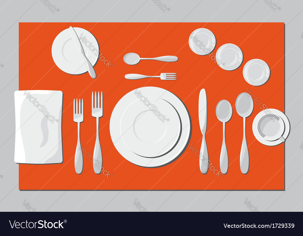 Serving dishes and cutlery