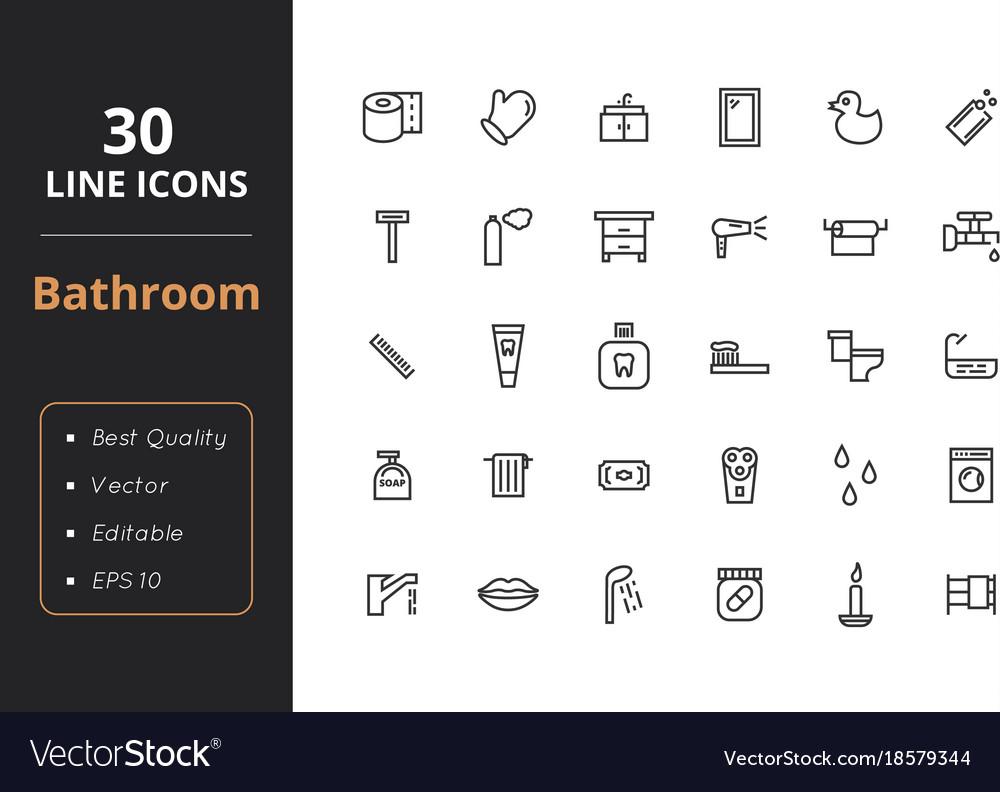 30 bathroom line icon