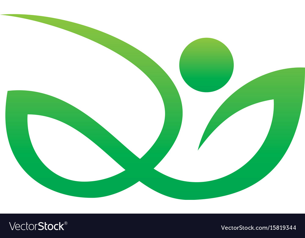 Abstract leaf human eco nature logo