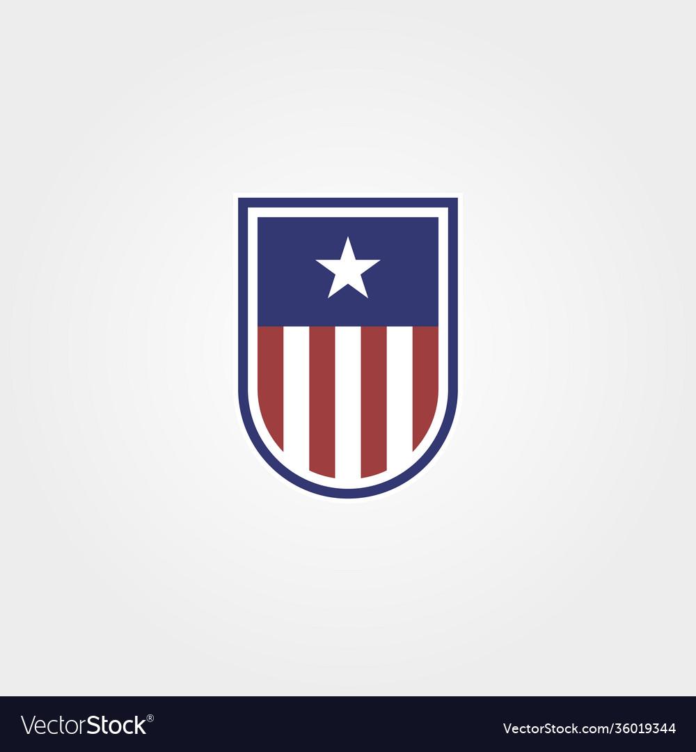 American emblem with shield logo symbol design