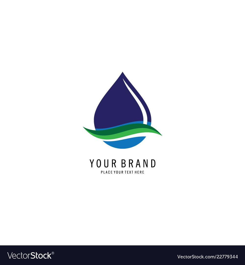 Bio droplet logo