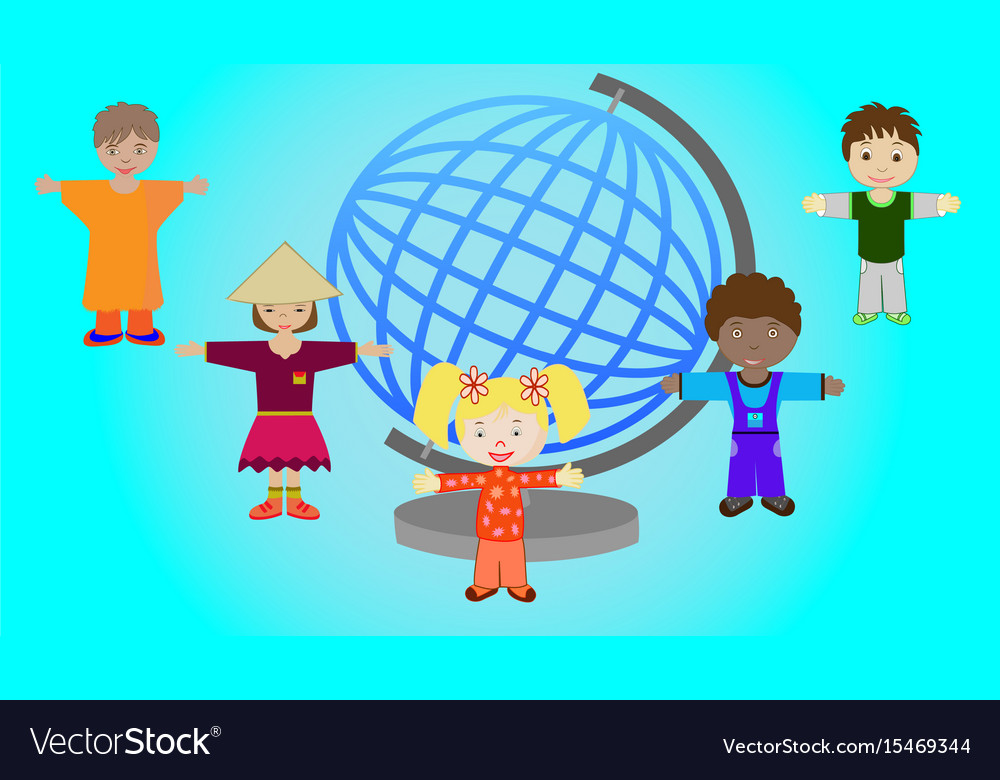 Children of different nations of the world