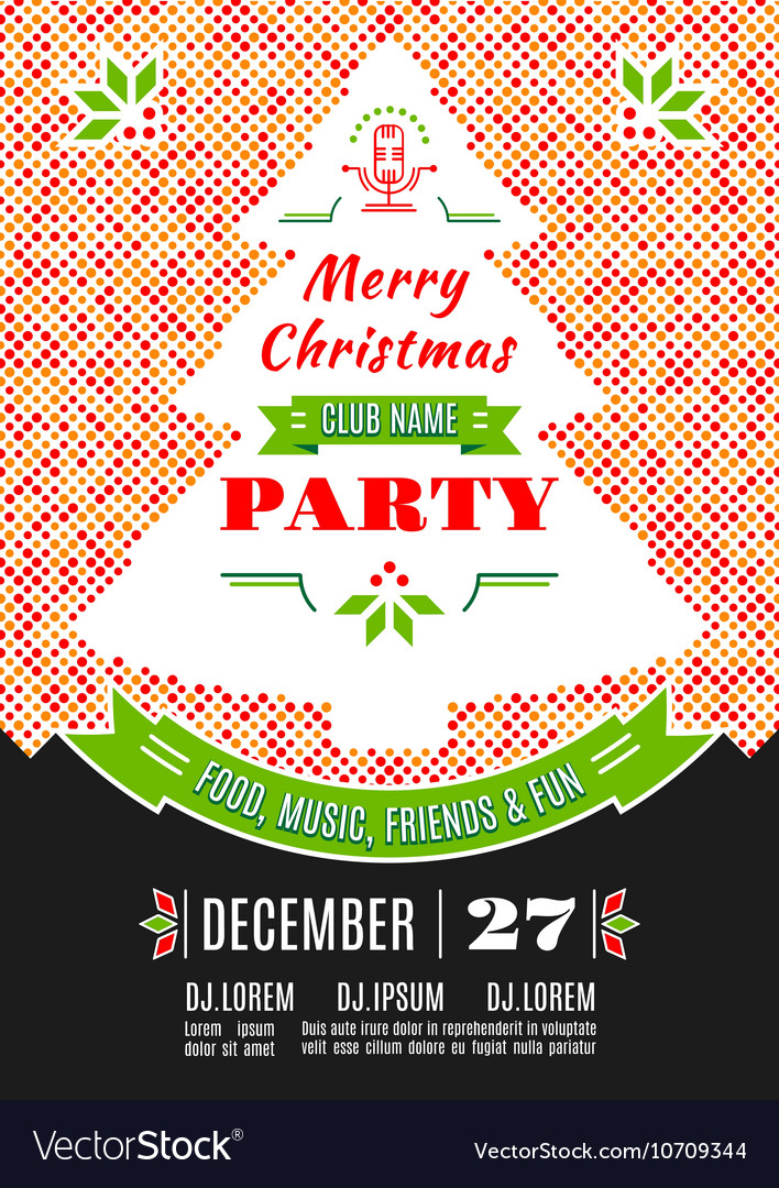 Christmas Party Poster.Christmas Party Poster Design Abstract