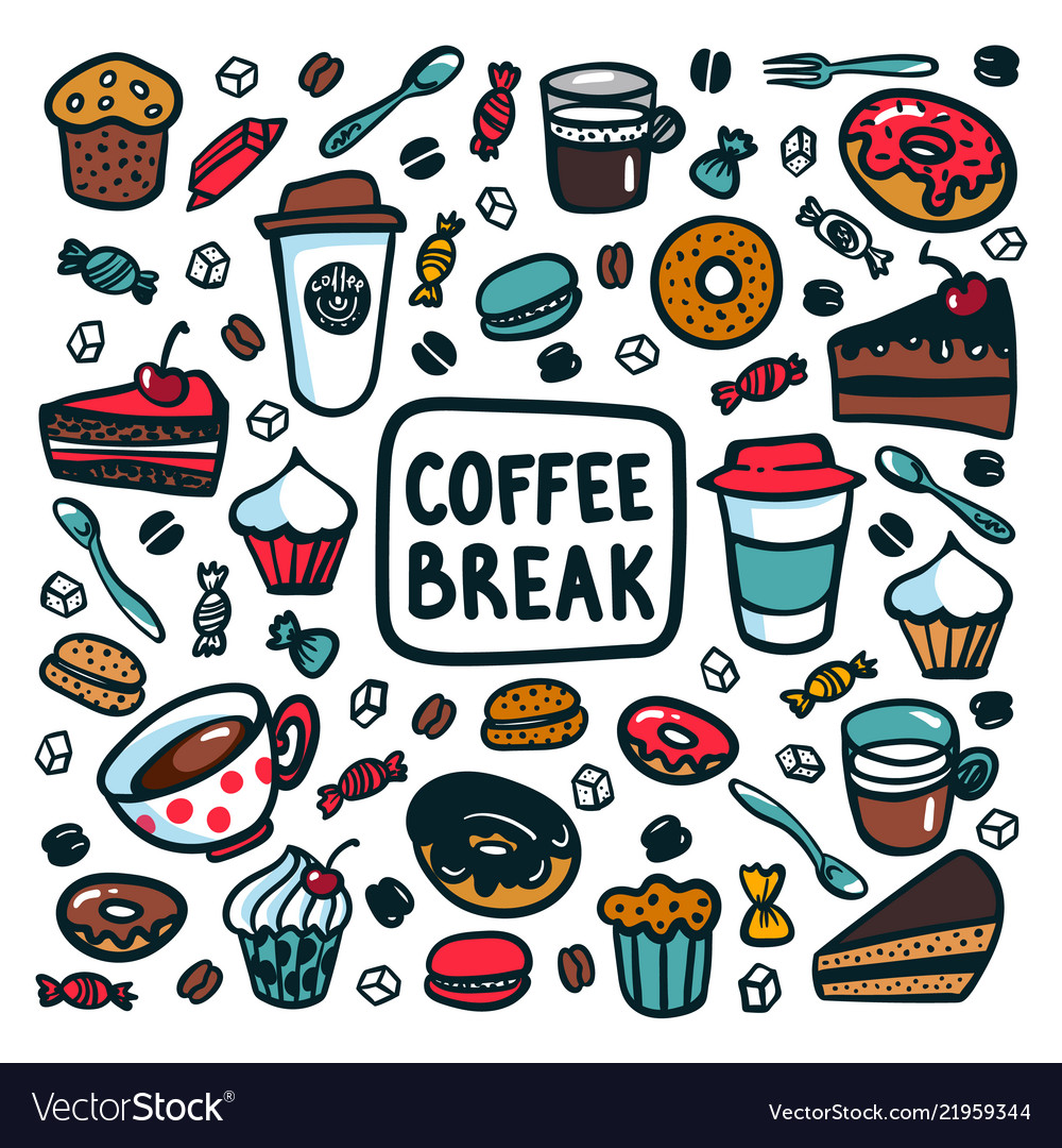 Coffee break concept time for a coffee break
