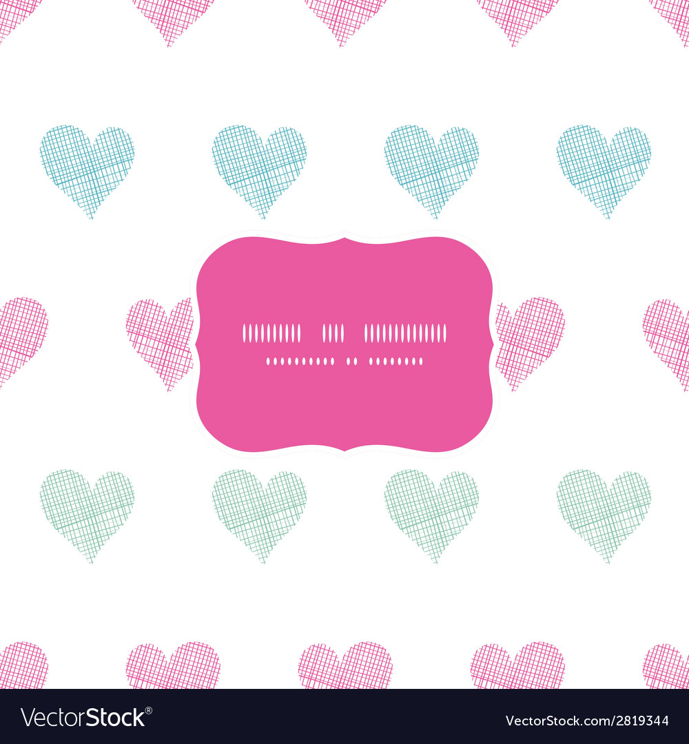 Colorful polka dot textile hearts frame seamless