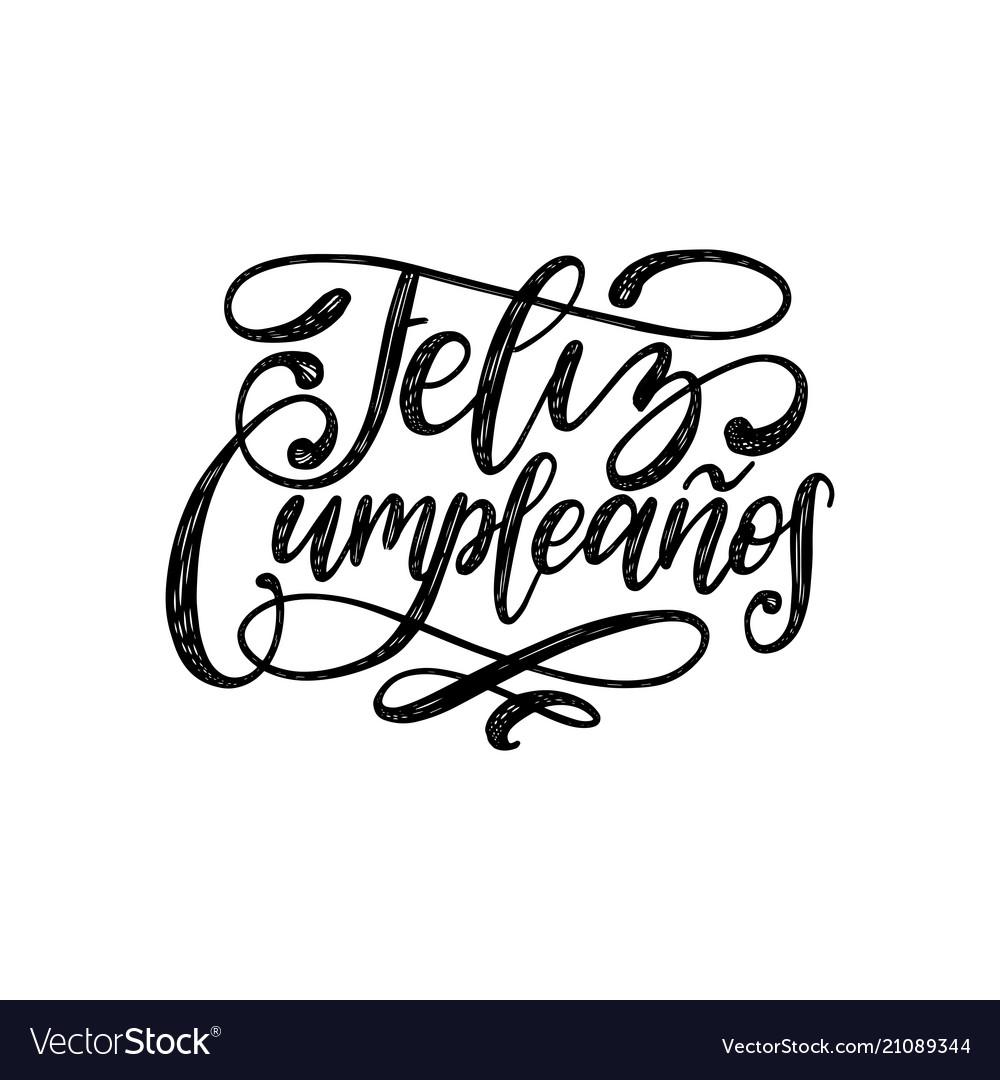 Feliz cumpleanos translated from spanish happy