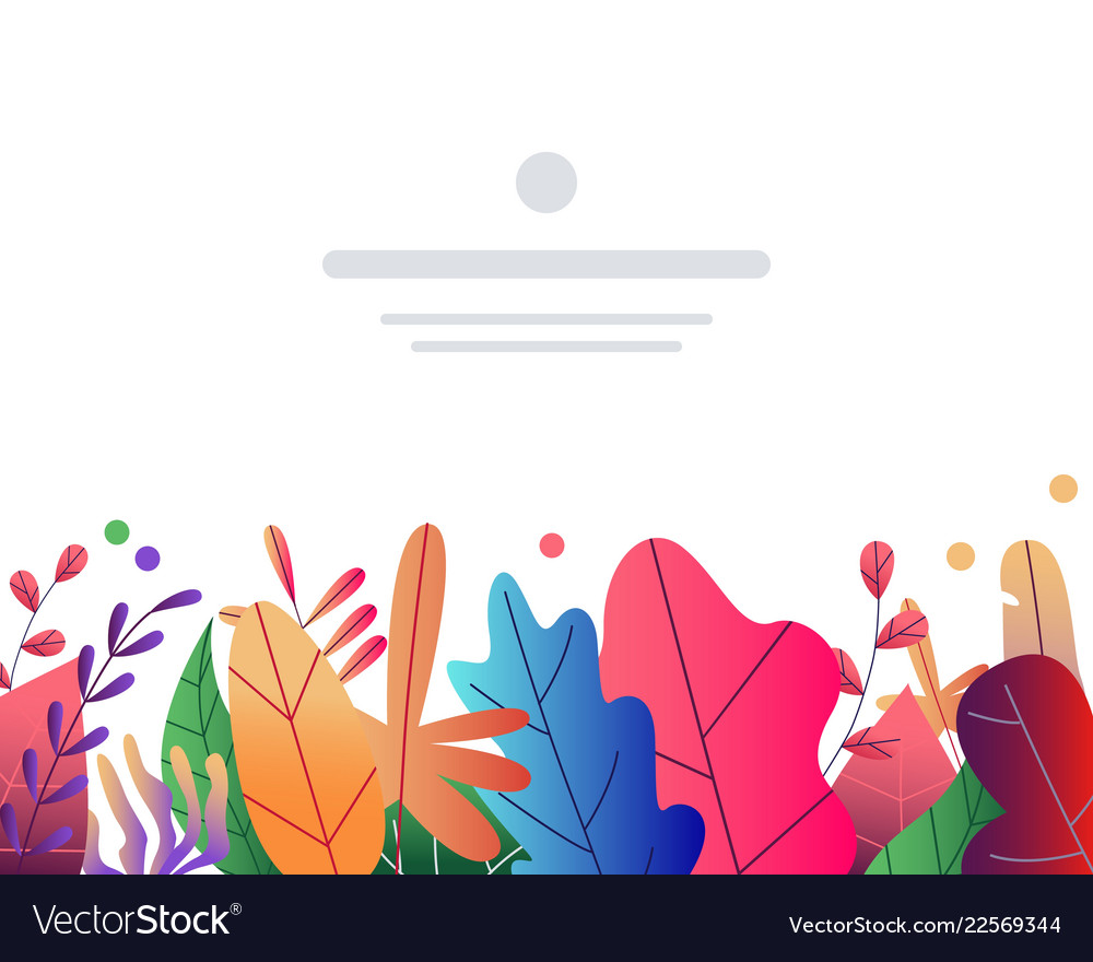 Flat abstract colorful leaves pattern background