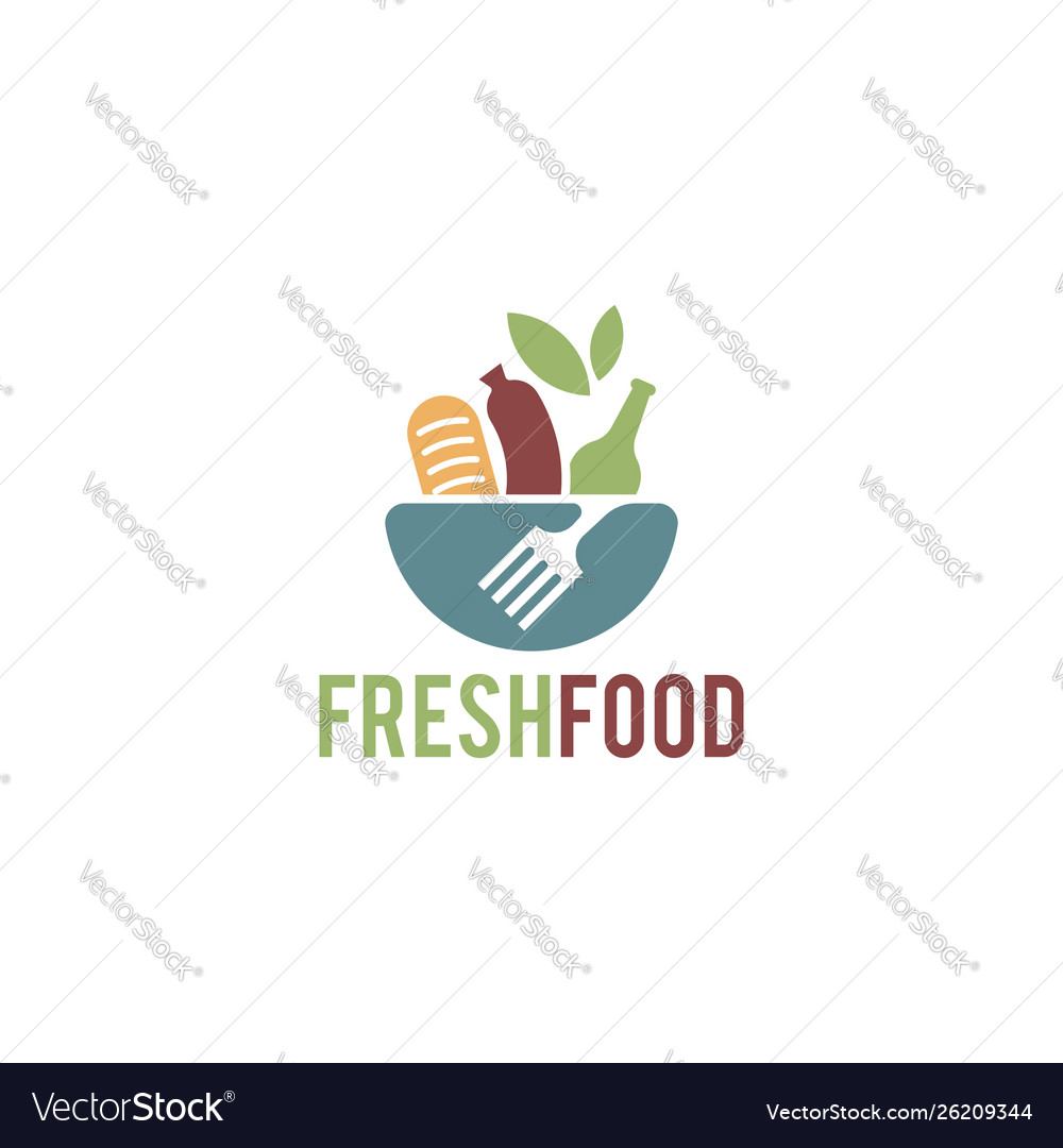 Fresh food logo template organic food logo