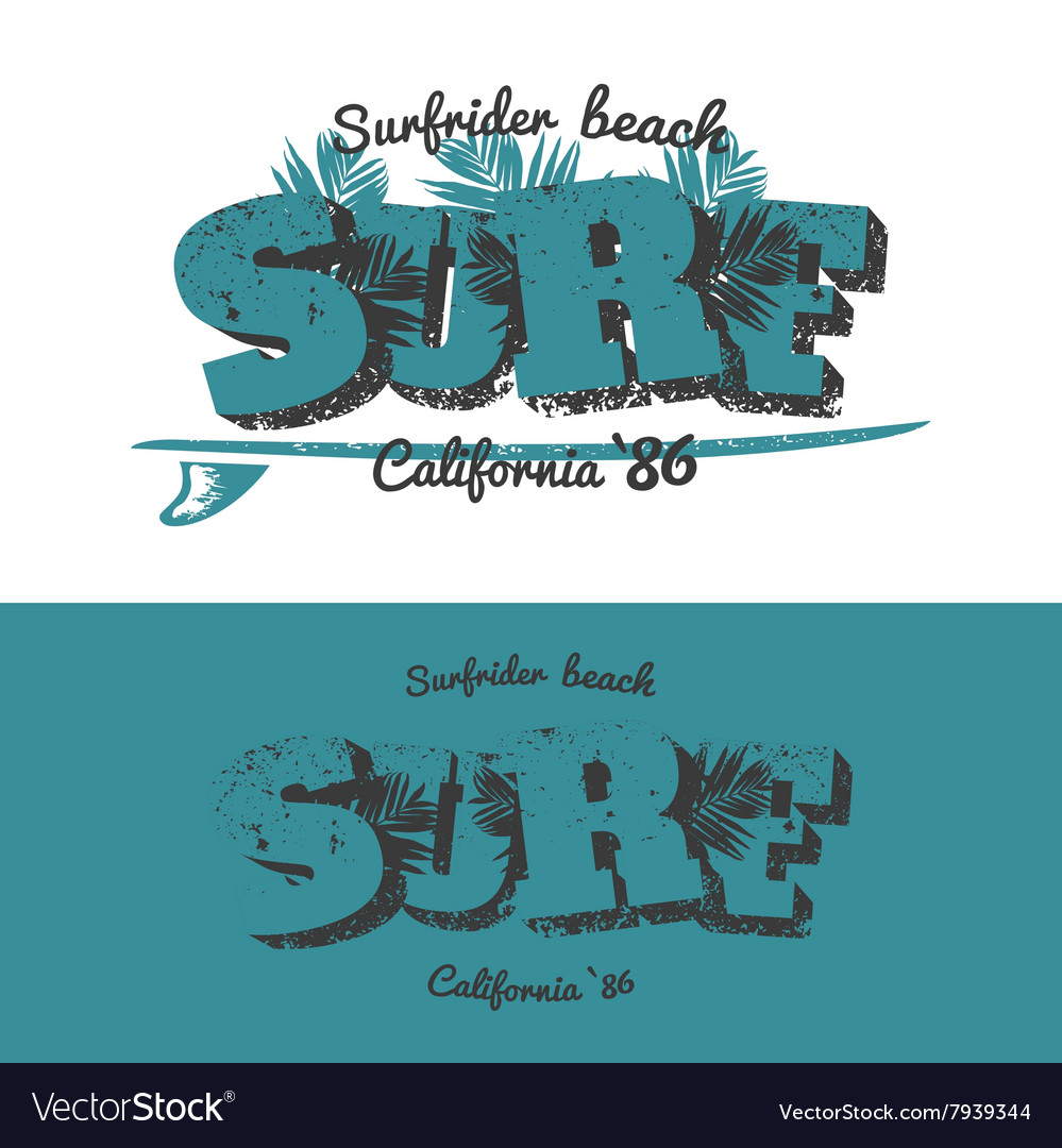 Surf t-shirt design