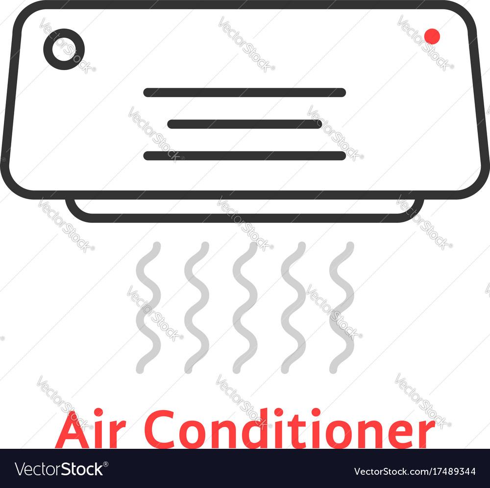 Thin line air conditioner icon