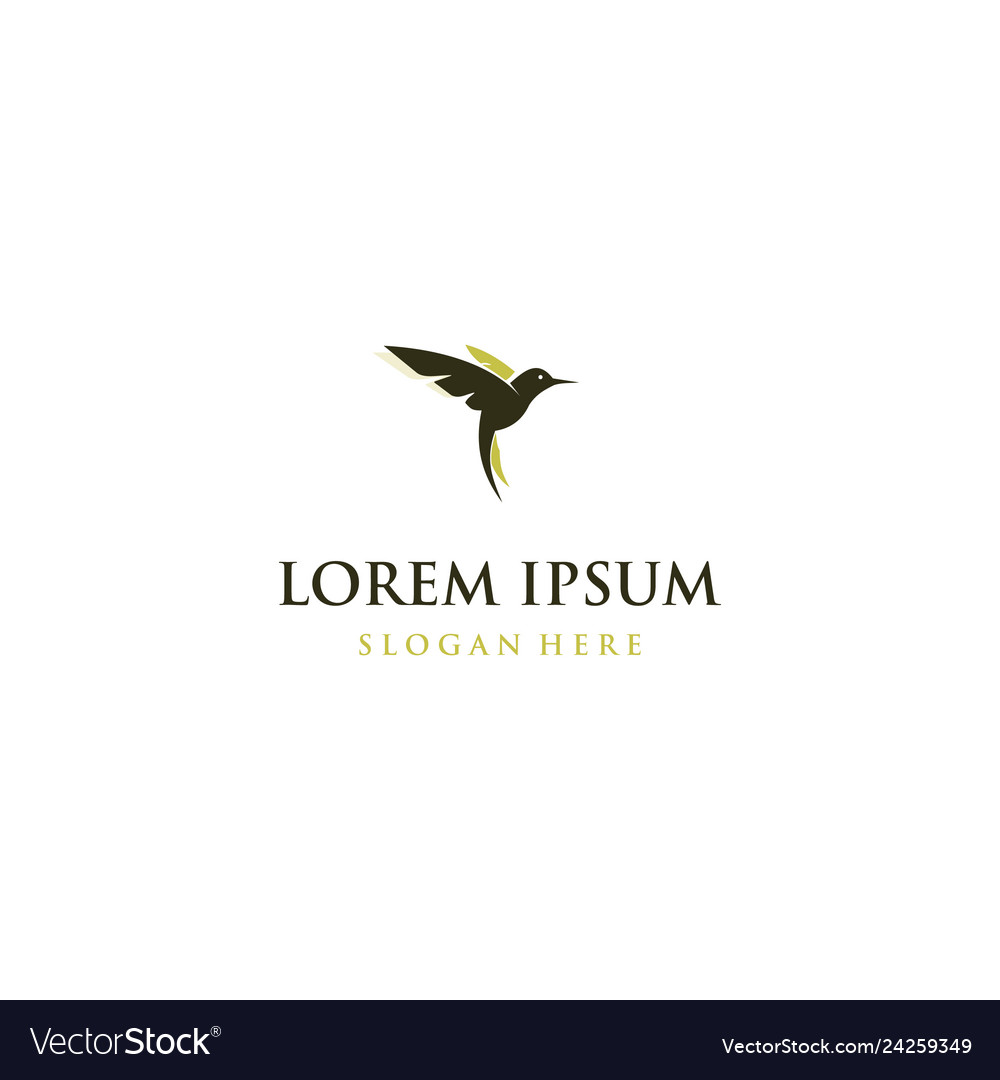 Bird flying with wings creative logo design