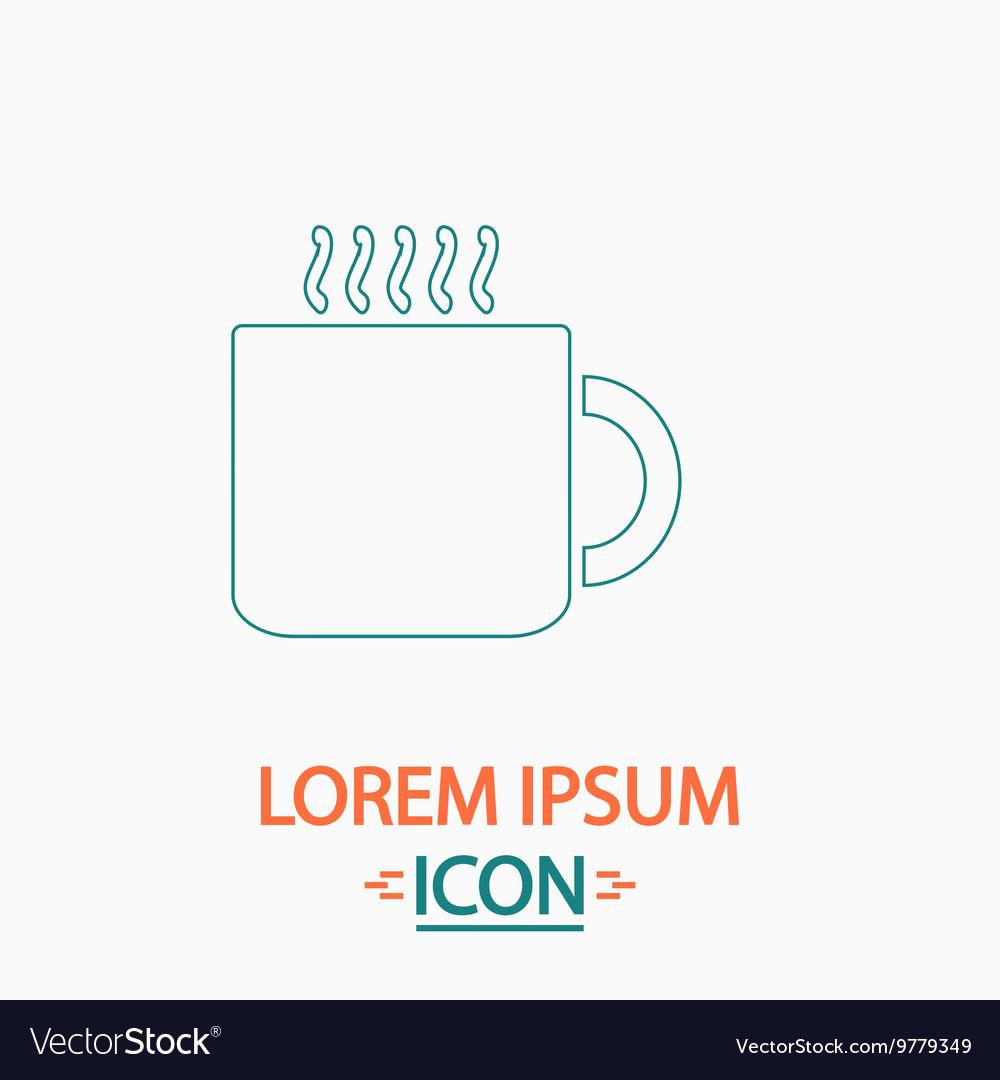 Hot cup computer symbol