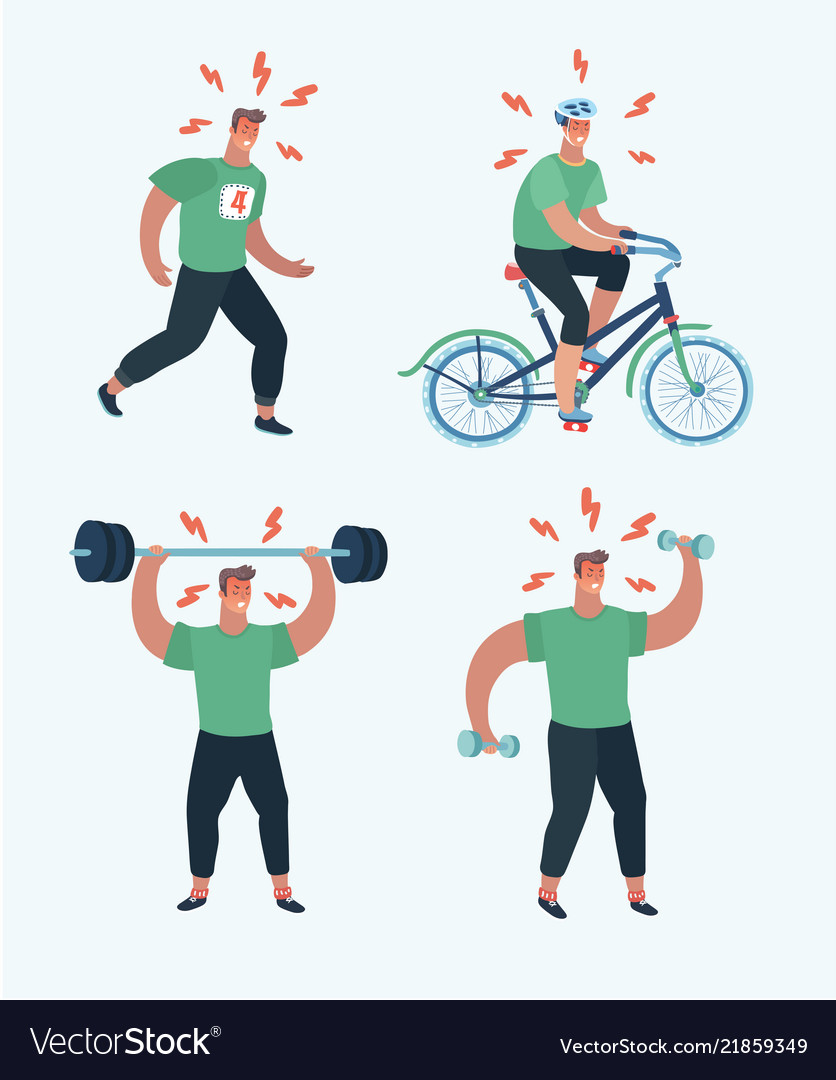 Male sports cardio and exercise