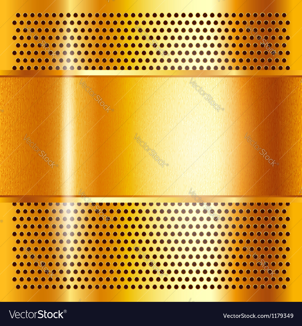 Metal sheet gold vector image