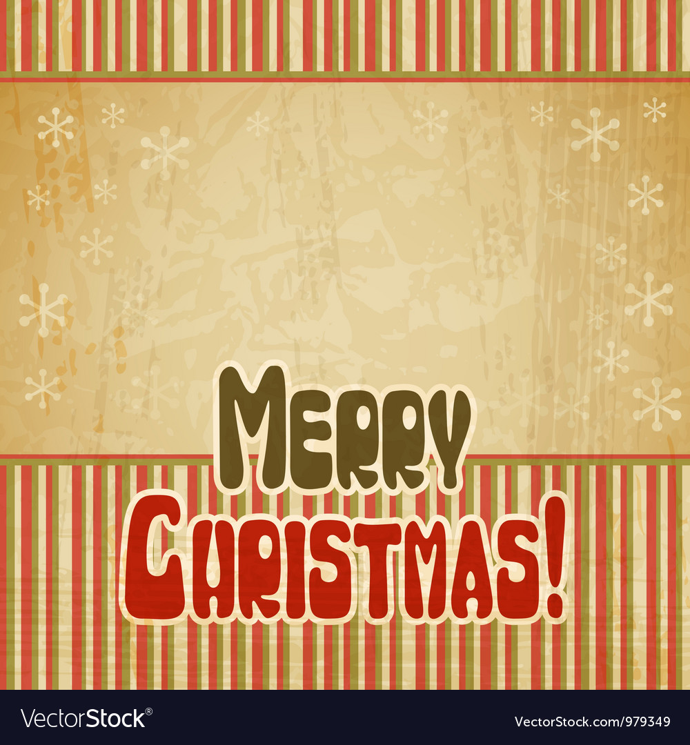 Retro Merry Christmas Background