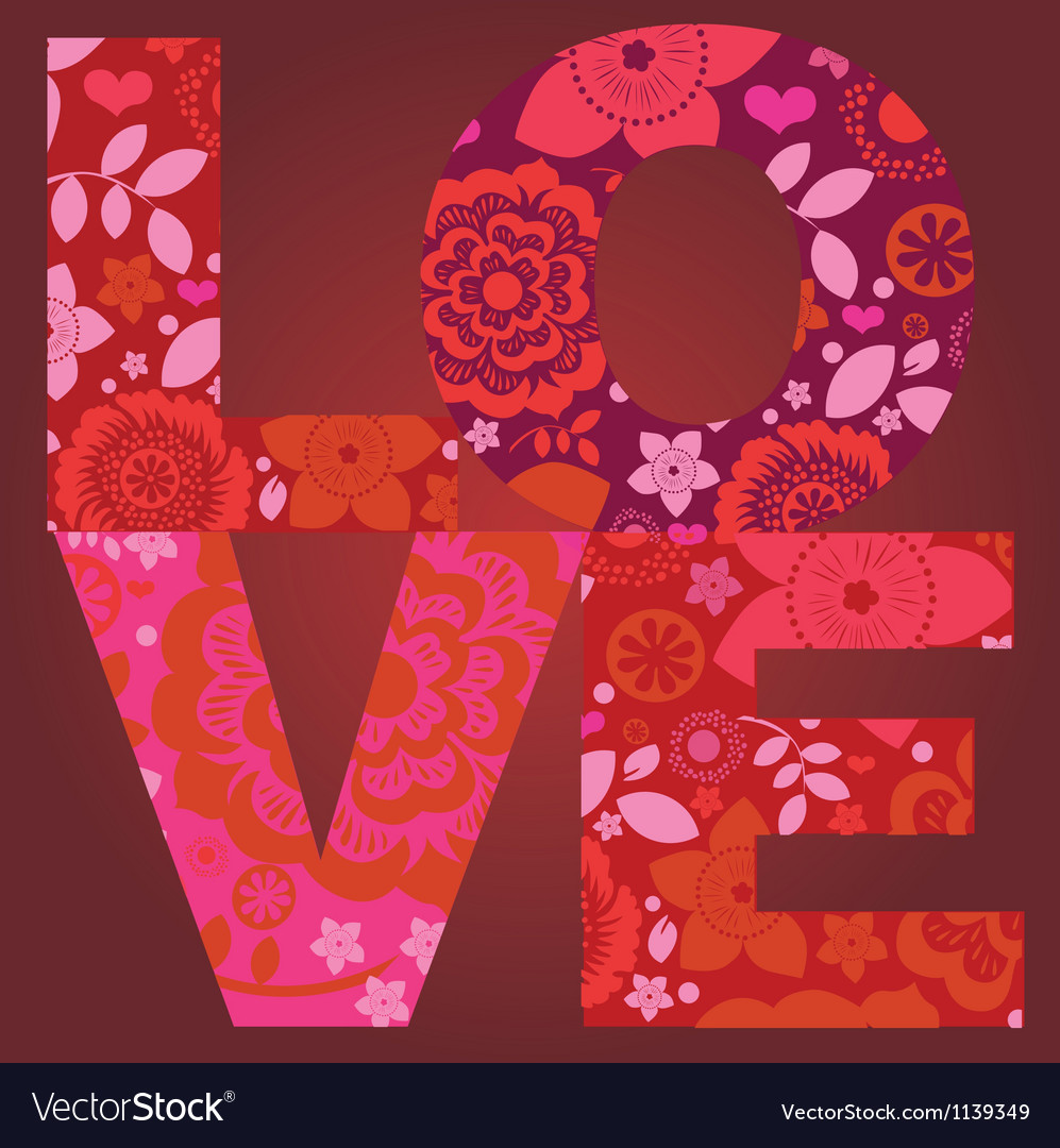 Valentine day love message floral post card
