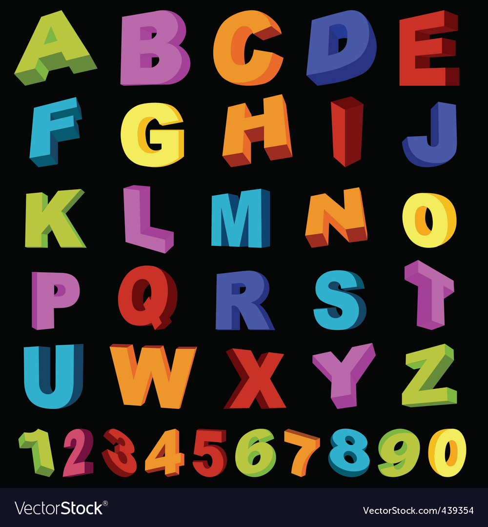 Alphabet with numerals