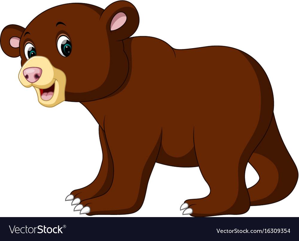 Cartoon funny bear vector image