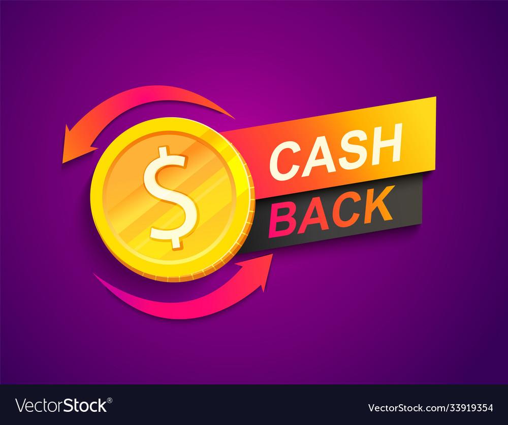 Cash back offer banner promotion refund