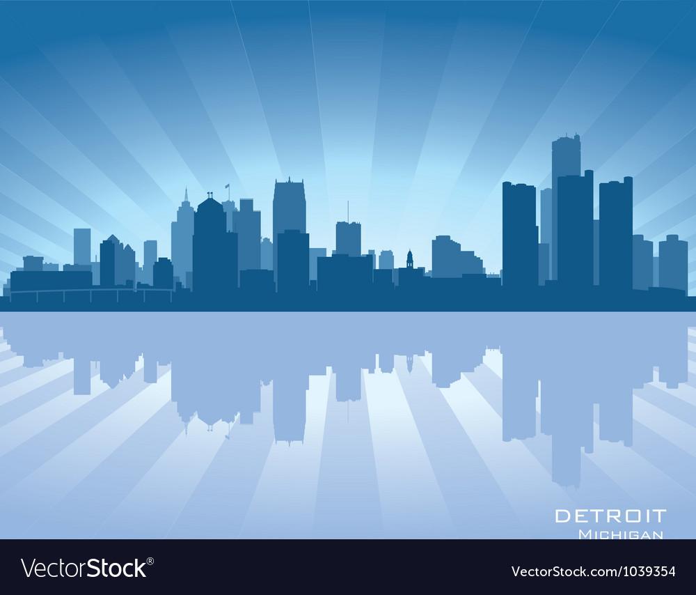 Detroit Michigan skyline vector image