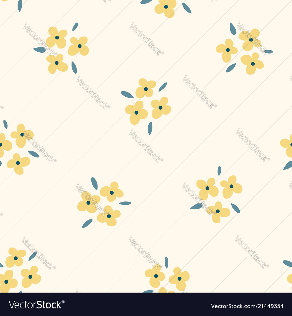Floral seamless pattern with yellow flowers