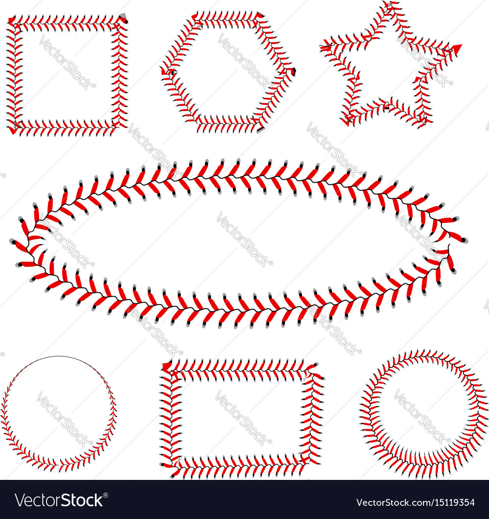Lace from a baseball on a white background