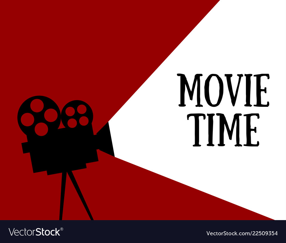 Movie time flat style