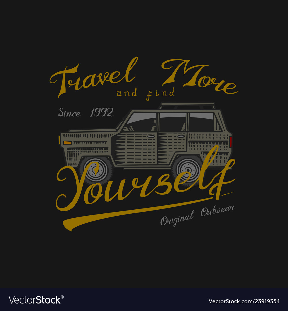 Muscle car for t-shirt vintage transport classic