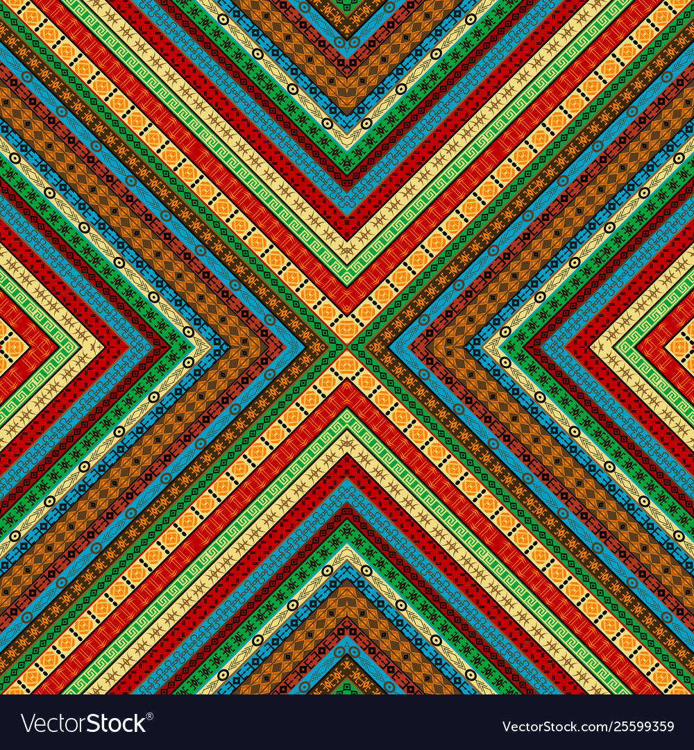 Colored african geometrical motifs background