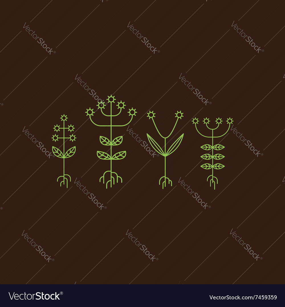 Flora Elements Eco Sign vector image