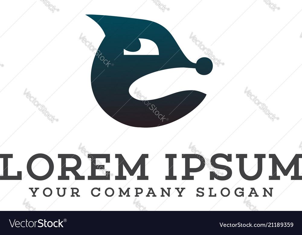 Fox logo design concept template