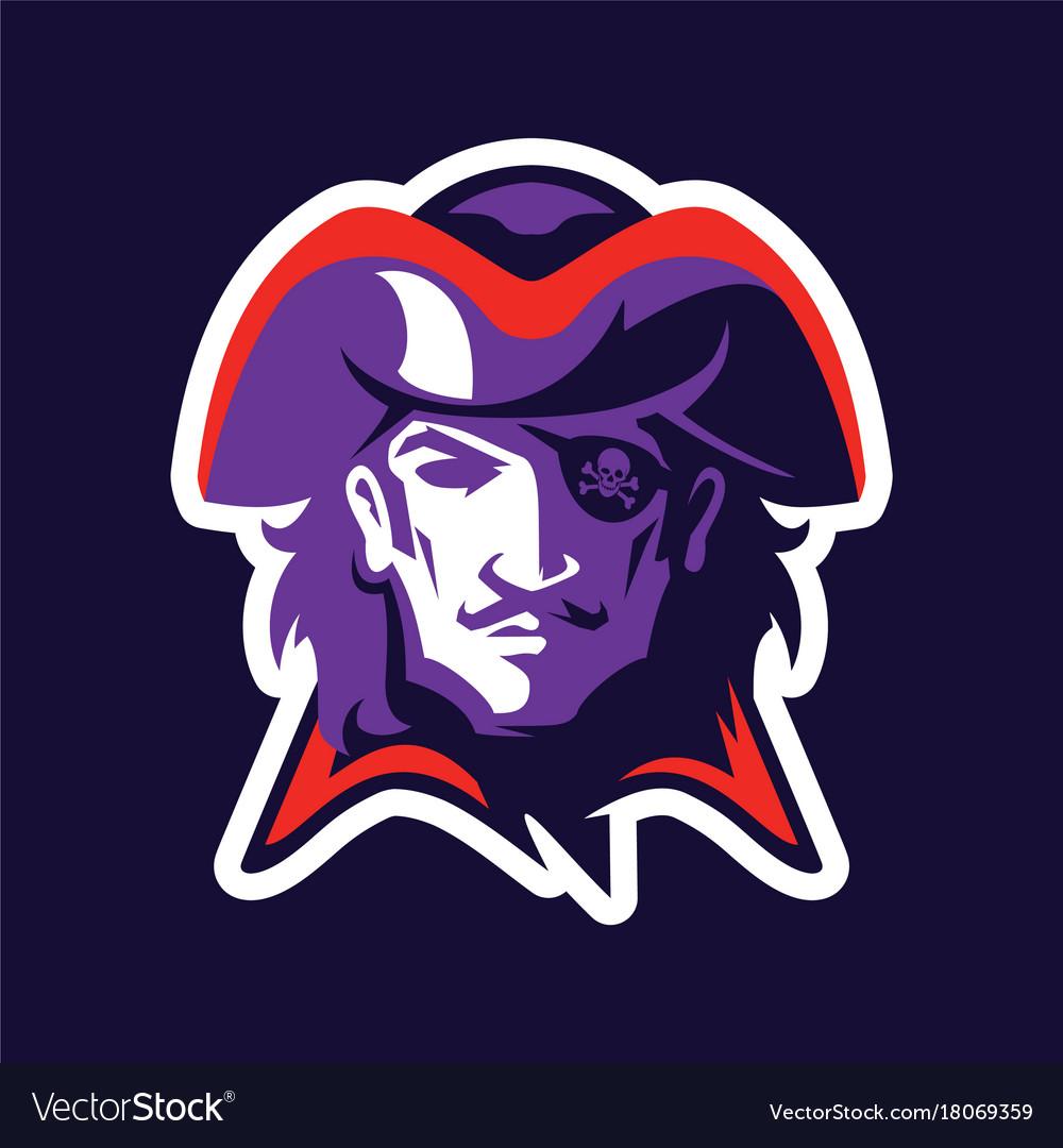 Pirate head mascot