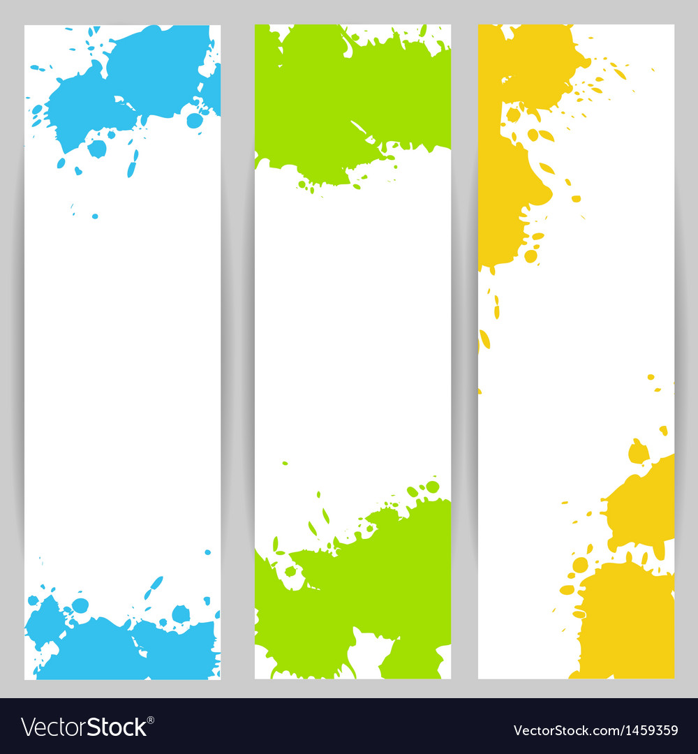 Vertical banners with paint splash