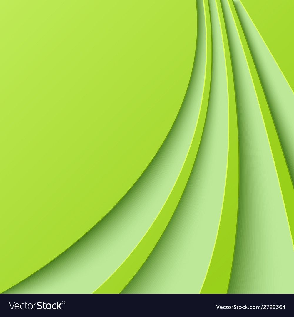 Abstract green background with curved lines