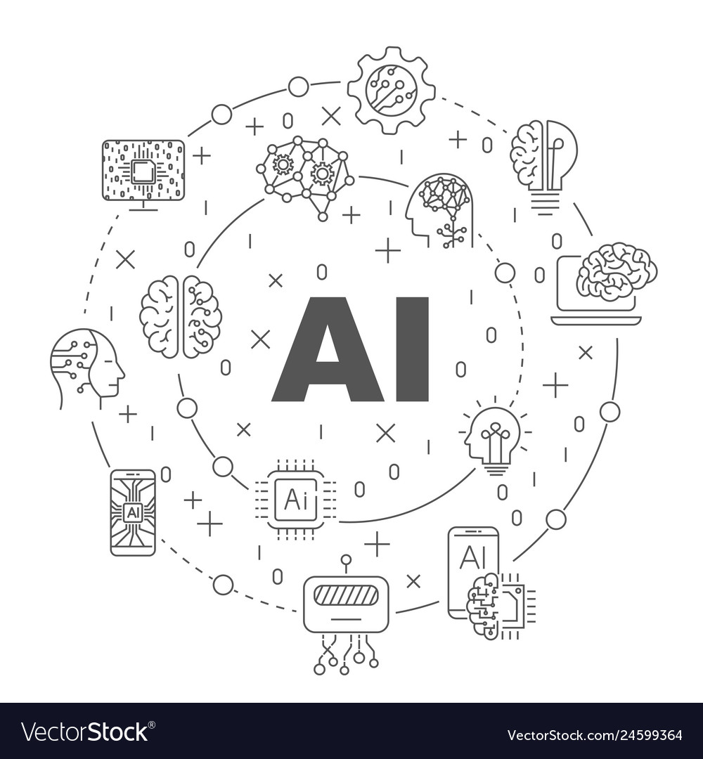 Ai and iot infographic banner neural network