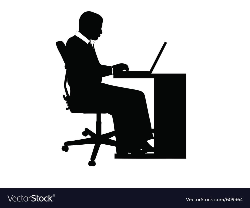 Businessman at desk vector image