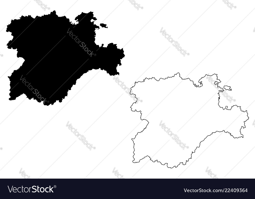 Castile and leon map Royalty Free Vector Image on