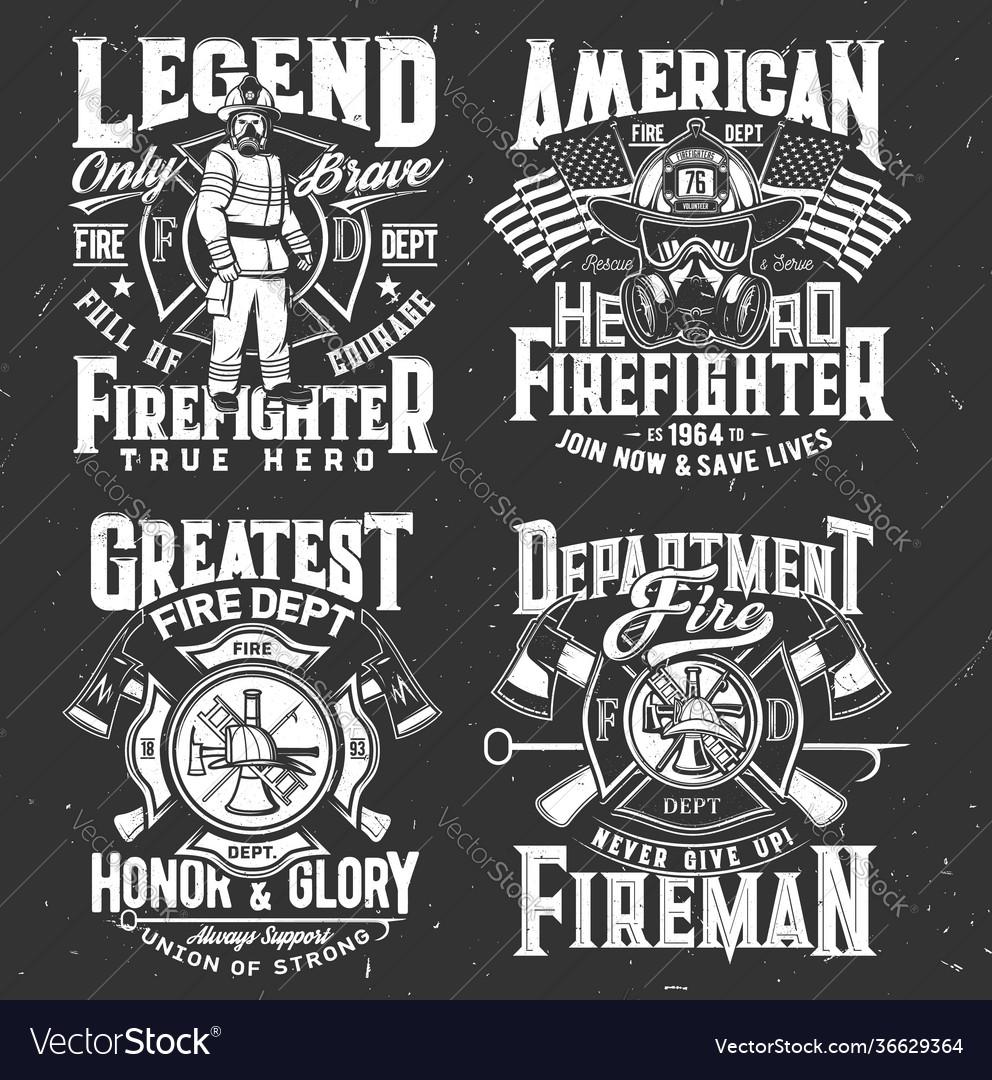Firefighter t-shirt print firefighting department