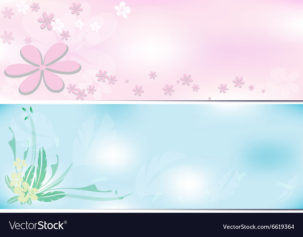 Flower background two tone vector image