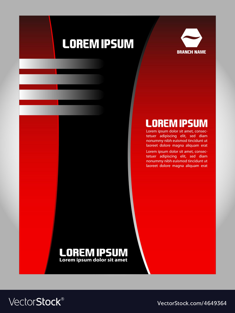 flyer leaflet booklet layout design template vector image