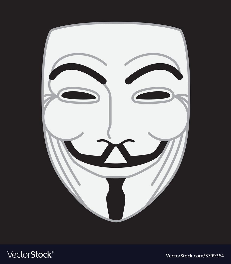 Guyfawkes mask Royalty Free Ve...