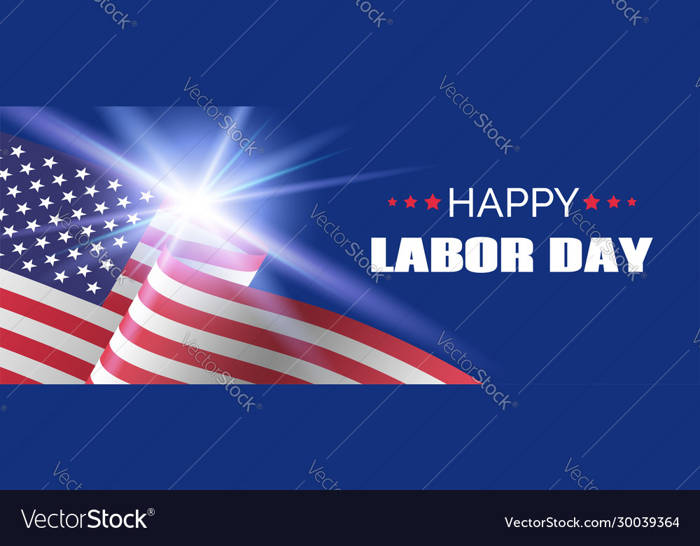 Happy labor day banner long banner