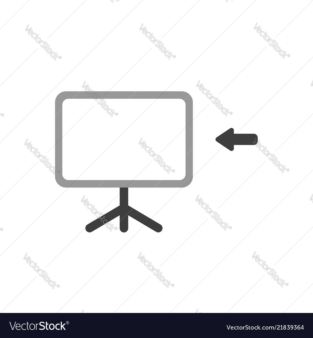 Icon concept of blank presentation chart with
